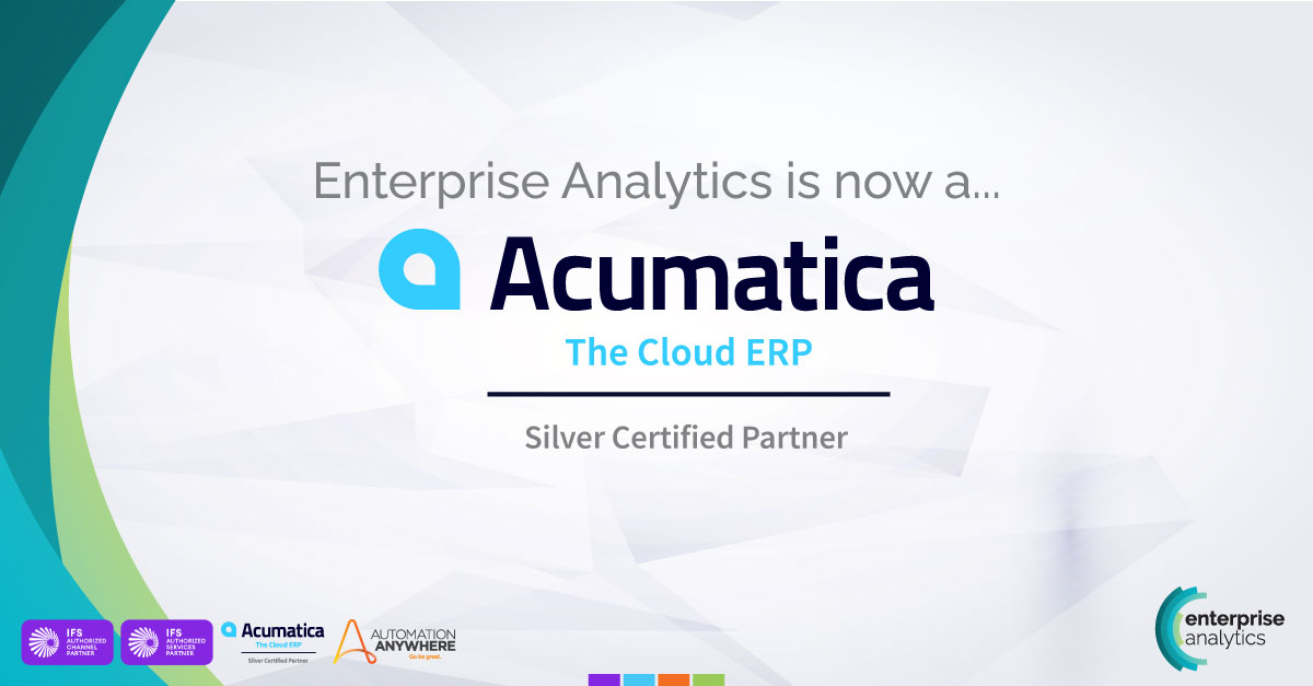 Enterprise Analytics is now a Silver Certified Partner of Acumatica